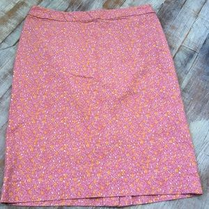 Talbots Tulip Print Pencil Skirt